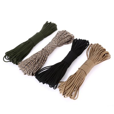 31m Paracord 9 Section Fil de Parachute Charge de Corde 249KG