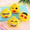 Girls Cute Purse Cartoon Emoji Coin Wallet Silicone Headset Bag - COLORMIX