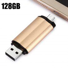 128G 2 in 1 OTG USB 2.0 Flash Drive Storage Device