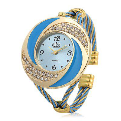 Cussi 45156 Simple Fashion Women Quartz Watch Bracelet