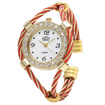 Cussi 03591 Simple Fashion Women Quartz Watch Bracelet