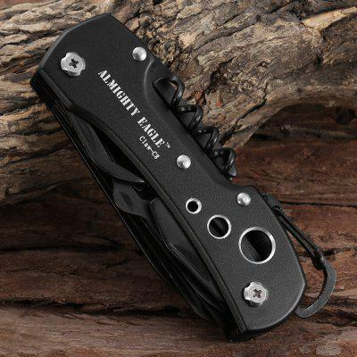 Almighty Eagle Claw - C8 Multifunctional Folding Swiss ScissorOther Tools<br>Almighty Eagle Claw - C8 Multifunctional Folding Swiss Scissor<br><br>Color: Black<br>Material: Aluminum Alloy<br>Model: Claw - C8<br>Package Contents: 1 x Almighty Eagle Claw - C8 Multifunctional Folding Swiss Scissor, 1 x Bag<br>Package size (L x W x H): 12.00 x 5.00 x 4.00 cm / 4.72 x 1.97 x 1.57 inches<br>Package weight: 0.2500 kg<br>Product size (L x W x H): 9.50 x 3.50 x 1.90 cm / 3.74 x 1.38 x 0.75 inches<br>Product weight: 0.1600 kg<br>Special Functions: Knife for Outdoor