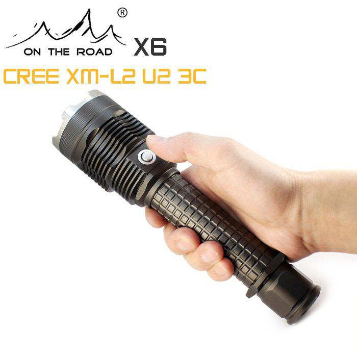 Buy ON THE ROAD X6 LED Flashlight TITANIUM GREY