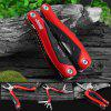 Jeep 56HRC Multifunctional Folding Pliers Combination Tool - RED WITH BLACK
