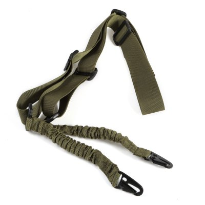 Outdoor Elastic Two-point Sling Strap with Metal Buckles