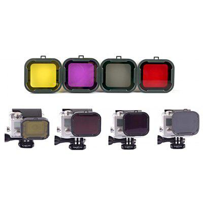 Buy COLORMIX 4 in 1 Diving Filter Lens Kit for GoPro Hero 3+ for $5.96 in GearBest store