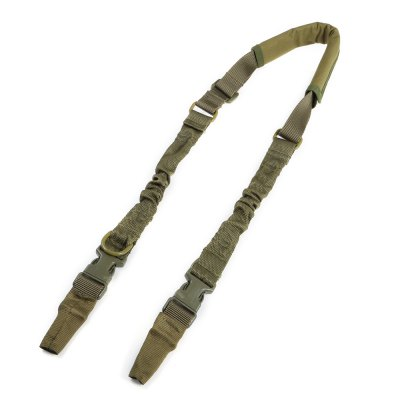 Elastic Thickened Two-point Sling Strap with Metal Buckles