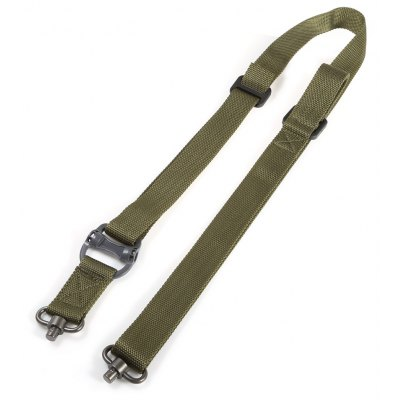 Buy ARMY GREEN Outdoor Survival Adjustable Nylon Tactical Sling Strap QD Design for $12.08 in GearBest store