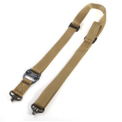 Buy KHAKI Outdoor Survival Adjustable Nylon Tactical Sling Strap QD Design for $11.80 in GearBest store