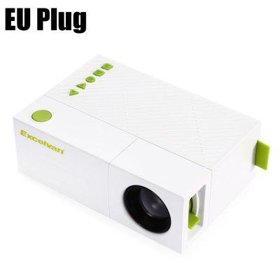 Excelvan YG310 LCD Projectorprojectors<br>Excelvan YG310 LCD Projector<br><br>3D: No<br>Aspect Ratio: 1.85:1<br>Audio Formats: MP3 / WMA / AAC / OGG / PCM / M4A / AC3 / WAV / CD / AMR / MP2 / APE / DTS / FLAC / MIDI<br>Bluetooth: Unsupport<br>Brand: EXCELVAN<br>Brightness: 800 Lumens<br>Built-in Speaker: Yes<br>Color: White<br>Contrast Ratio: 800:1<br>Display type: LCD<br>DVB-T Supported: Yes<br>External Subtitle Supported: Yes<br>Features: 1080P<br>Function: DVB-T, Speaker, External Subtitle<br>Image Scale: 4:3<br>Image Size: 24 - 60 inch<br>Interface: HDMI, AV, DC Port, USB, Microphone, Micro USB, Micro SD Card Slot<br>Lamp: LED<br>Model: YG310<br>Native Resolution: 320 x 240<br>Package Contents: 1 x Excelvan YG310 LCD Projector, 1 x Power Supply, 1 x Remote Control, 1 x AV Cable, 1 x English Manual<br>Package size (L x W x H): 19.70 x 18.00 x 8.20 cm / 7.76 x 7.09 x 3.23 inches<br>Package weight: 0.5980 kg<br>Picture Formats: JPG / JPEG / PNG / BMP / GIF / TIFF / PCX / TGA / EXIF / FPX / SVG / PSD / CDR / PCD / DXF / UFO / EPS / RAW / MPO<br>Power Supply: 12V<br>Product size (L x W x H): 12.70 x 8.60 x 4.60 cm / 5 x 3.39 x 1.81 inches<br>Product weight: 0.4440 kg<br>Projection Distance: 0.8 - 2M<br>Resolution Support: 1920 x 1080<br>Throw Ration: 1.6:1<br>Video Formats: AVI / ASF / WMV / TS / MPG / M2P / MP4 / FLV / SWF / VOB / MKV / DIVX /XVID / MOV / RMVB / RV / 3GP / DAT / RM / WEBM / SSIF