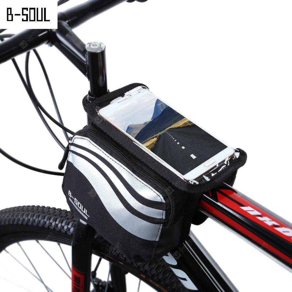 B - SOUL YA0205 Bicycle Front Tube Bag SILVER