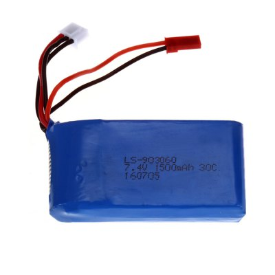 JST Plug 7.4V 2S 1500mAh 30C Battery