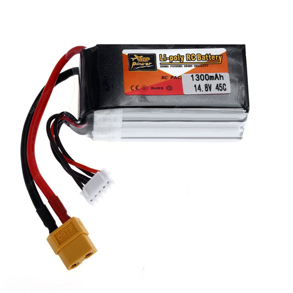 ZOP Power XT60 Plug 14.8V 4S 1300mAh 45C Battery