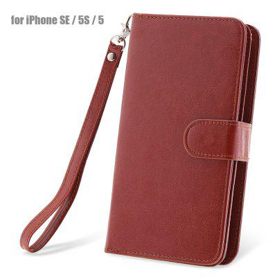 Crazy-horse PU Leather Protective Case for iPhone SE / 5S / 5