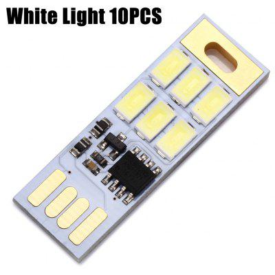 10PCS Mini Módulo de Lámpara de LED USB