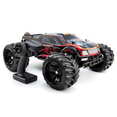 JLB Cheetah 1:10 2.4GHz 4WD RC Racing Car - RTRRC Cars<br>JLB Cheetah 1:10 2.4GHz 4WD RC Racing Car - RTR<br><br>Battery Information: 11.1V 4000mAh 30C LiPo, waterproof<br>Brand: JLB<br>Car Power: Built-in rechargeable battery<br>Channel: 2-Channels<br>Charging Time: 6 - 7 Hours<br>Control Distance: 80-100m<br>Detailed Control Distance: About 100m<br>Drive Type: 4 WD<br>Electronic Speed Controller: 80A ( continuous current ), waterproof, non-inductive<br>Features: Radio Control<br>Functions: Head Up, Turn left/right, Forward/backward, Flip<br>Material: Plastic, Metal, Electronic Components, ABS<br>Mode: Mode 2 (Left Hand Throttle)<br>Motor Type: Brushless Motor<br>Package Contents: 1 x RC Car ( Battery Included ), 1 x Charger ( with Cable ), 1 x Transmitter<br>Package size (L x W x H): 58.00 x 42.00 x 26.00 cm / 22.83 x 16.54 x 10.24 inches<br>Package weight: 5.7900 kg<br>Product size (L x W x H): 50.00 x 39.00 x 20.50 cm / 19.69 x 15.35 x 8.07 inches<br>Product weight: 3.8400 kg<br>Racing Time: About 35mins<br>Remote Control: 2.4GHz Wireless Remote Control<br>Servo Type: 40g, waterproof, 15kg/cm, 0.15 sec/60 degree high-torque<br>Speed: 70 - 80km/h<br>Transmitter Power: 4 x 1.5V AA (not included)<br>Type: Monster Truck