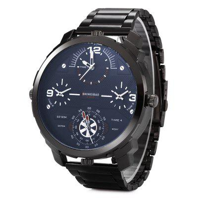 SHIWEIBAO A3612 Casual Steel Strap Men Quartz Watch