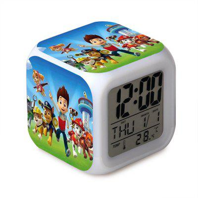 Cartoon 7 Color Change Digital Alarm Clock