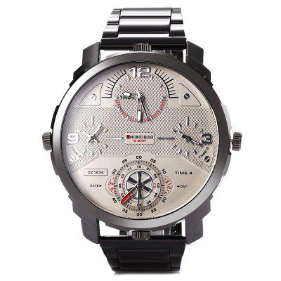 SHIWEIBAO A3612 Casual Steel Strap Men Quartz WatchMens Watches<br>SHIWEIBAO A3612 Casual Steel Strap Men Quartz Watch<br><br>Available Color: Black,Gray,Silver<br>Band material: Steel<br>Band size: 23.2 x 2.7 cm / 9.13 x 1.06 inches<br>Brand: Shiweibao<br>Case material: Stainless Steel<br>Clasp type: Folding clasp with safety<br>Dial size: 5.6 x 5.6 x 2 cm / 2.2 x 2.2 x 0.79 inches<br>Display type: Analog<br>Movement type: Multiple Movt<br>Package Contents: 1 x SHIWEIBAO A3612 Casual Men Quartz Watch, 1 x Box<br>Package size (L x W x H): 8.50 x 8.00 x 5.30 cm / 3.35 x 3.15 x 2.09 inches<br>Package weight: 0.2030 kg<br>Product size (L x W x H): 23.20 x 5.60 x 2.00 cm / 9.13 x 2.2 x 0.79 inches<br>Product weight: 0.1390 kg<br>Shape of the dial: Round<br>Special features: Working sub-dial<br>Watch style: Casual<br>Watches categories: Male table<br>Water resistance: Life water resistant