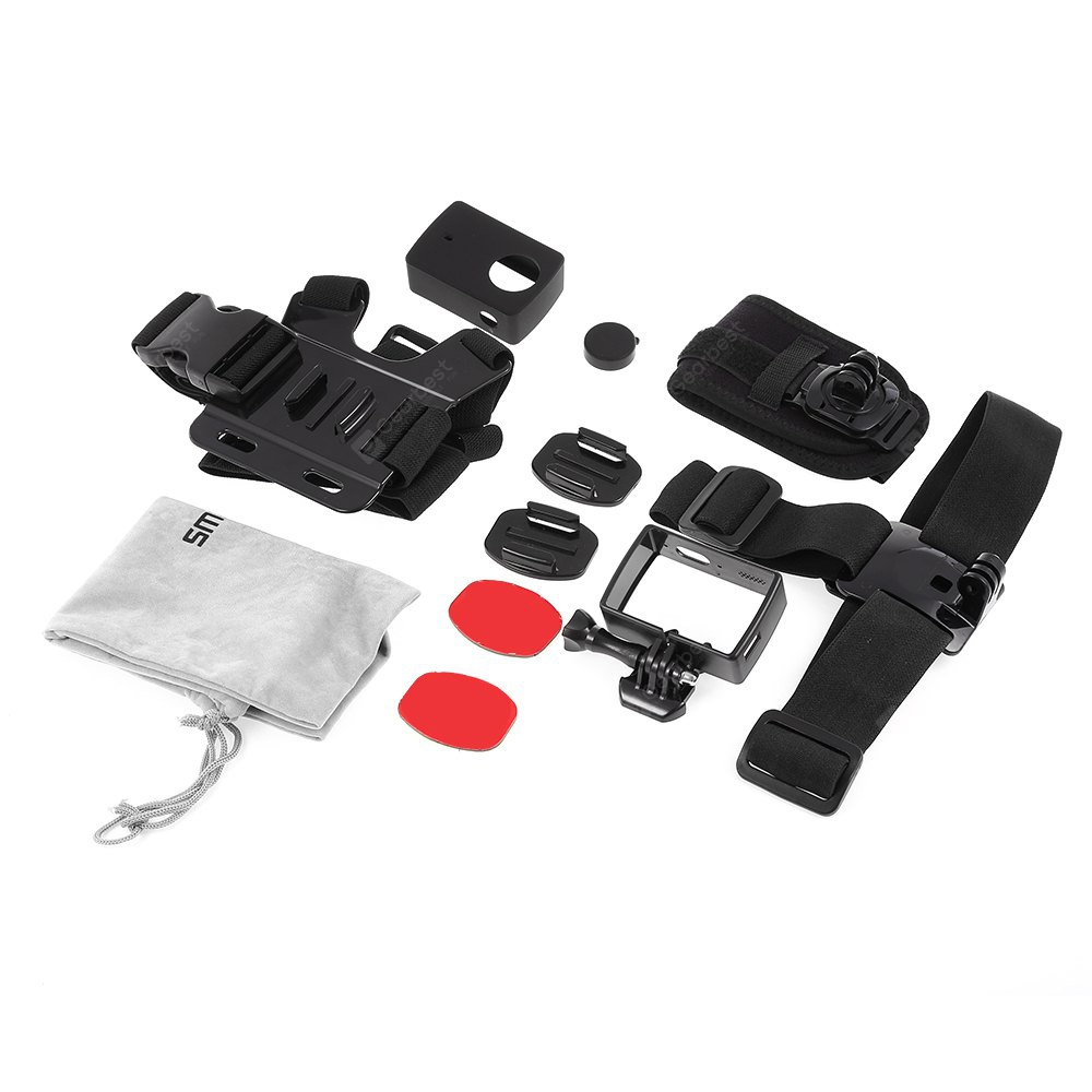 SMACO CPK062 7 in 1 Action Camera Accessories for Xiaomi Yi 2