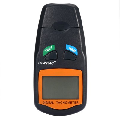 DT - 2234C+ LCD Digital Laser Photo Tachometer RPM Meter