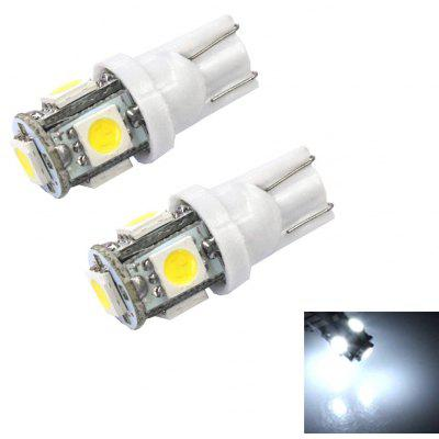 T10 5 SMD 5050 LED Car Lamp 2.5W 6000K 45LM 2PCS