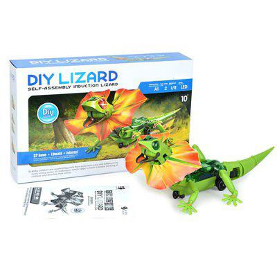 Infrared Sensor Electric Lizard Robot Puzzle DIY Kit Toy