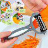 Multifunctional 360 Degree Rotary Vegetable Fruit Slicer - GRAY