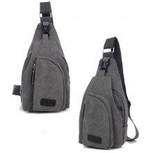 0f5a87a839 5L Male Leisure Canvas Sports Sling Bag