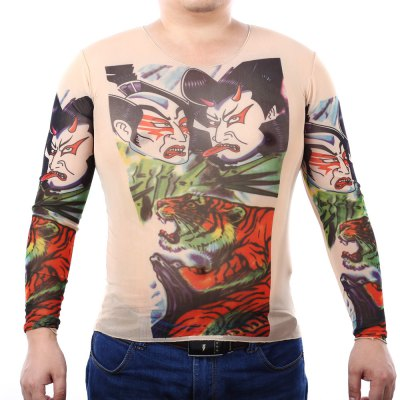 Men Long Sleeves Tattoo T-shirt