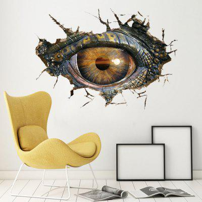 3D Dragon Eye Crack Wall Sticker Wallpaper