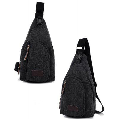 5L Male Leisure Canvas Sports Sling Bag в магазине GearBest