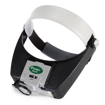 Proskit MA - 016 Headband Magnifier with LED LightMagnifiers<br>Proskit MA - 016 Headband Magnifier with LED Light<br><br>Magnification: 0-10x, 0-10x<br>Model: Proskit, Proskit<br>Package Contents: 1 x LED Light Headband Magnifier, 1 x LED Light Headband Magnifier<br>Package size (L x W x H): 33.00 x 23.00 x 5.00 cm / 12.99 x 9.06 x 1.97 inches, 33.00 x 23.00 x 5.00 cm / 12.99 x 9.06 x 1.97 inches<br>Package weight: 0.305 kg, 0.305 kg<br>Product size (L x W x H): 27.00 x 20.80 x 4.80 cm / 10.63 x 8.19 x 1.89 inches, 27.00 x 20.80 x 4.80 cm / 10.63 x 8.19 x 1.89 inches<br>Product weight: 0.195 kg, 0.195 kg