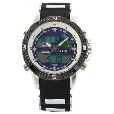 6.11 8156A Men Luminous Dial Sports Digital Quartz Watch