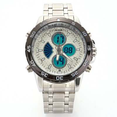 6.11 8157 Men Luminous Dial Sports Digital Quartz Watch