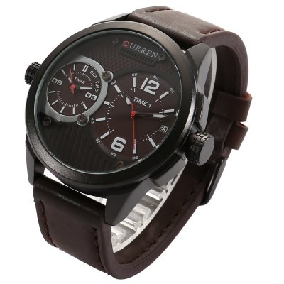 CURREN 8249 Business Men Quartz WatchMens Watches<br>CURREN 8249 Business Men Quartz Watch<br><br>Available Color: Black,Red,White,Yellow<br>Band material: Leather<br>Band size: 24 x 2.4 cm / 9.45 x 0.94 inches , 24 x 2.4 cm / 9.45 x 0.94 inches<br>Brand: Curren<br>Case material: Alloy<br>Clasp type: Pin buckle<br>Dial size: 4.2 x 4.2 x 1.5 cm / 1.65 x 1.65 x 0.59 inches<br>Display type: Analog<br>Movement type: Double-movtz<br>Package Contents: 1 x CURREN 8249 Business Men Quartz Watch, 1 x Box , 1 x CURREN 8249 Business Men Quartz Watch, 1 x Box<br>Package size (L x W x H): 8.50 x 8.50 x 2.00 cm / 3.35 x 3.35 x 0.79 inches<br>Package weight: 0.160 kg, 0.160 kg<br>Product size (L x W x H): 24.00 x 4.20 x 1.50 cm / 9.45 x 1.65 x 0.59 inches, 24.00 x 4.20 x 1.50 cm / 9.45 x 1.65 x 0.59 inches<br>Product weight: 0.098 kg, 0.098 kg<br>Shape of the dial: Round<br>Special features: Date<br>Watch style: Business<br>Watches categories: Male table<br>Water resistance: Life water resistant
