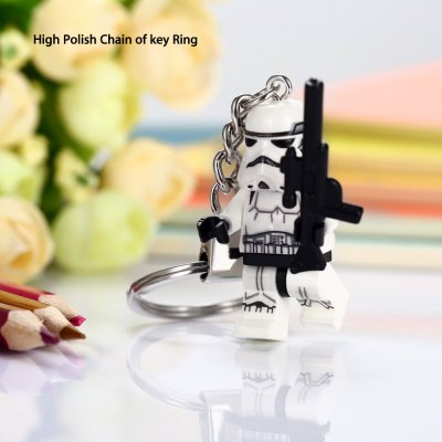 Keyring Pendant Warrior Shape Decor Toy