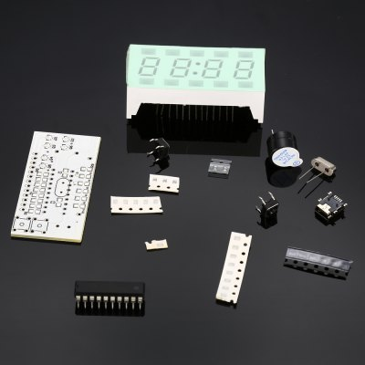 Green LED Electronic Clock Suite DIY Kits