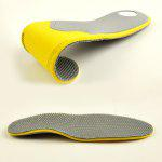 Breathable Shock Resistant Massage Insoles - YELLOW