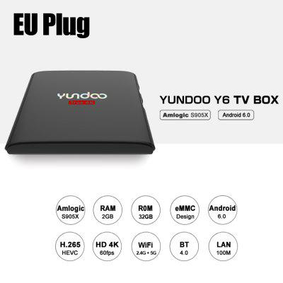 YUNDOO Y6 Set Top Box Android Amlogic S905X Quad Core