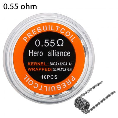 Prebuilt Kanthal A1 Hero Alliance Coil
