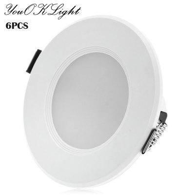 6pcs YouOKLight 8 x SMD5730 3W 200Lm LED Ceiling Downlight