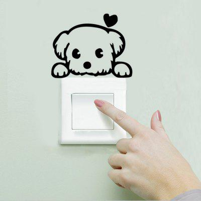 Cute Dog Style Wallpaper Switch Sticker Wall DecorationWall Stickers<br>Cute Dog Style Wallpaper Switch Sticker Wall Decoration<br><br>Art Style: Plane Wall Stickers<br>Color Scheme: Black<br>Function: Light Switch Stickers<br>Material: Vinyl(PVC)<br>Package Contents: 1 x Dog Pattern Switch Sticker<br>Package size (L x W x H): 25.00 x 4.50 x 4.50 cm / 9.84 x 1.77 x 1.77 inches<br>Package weight: 0.0750 kg<br>Product size (L x W x H): 14.50 x 10.70 x 0.10 cm / 5.71 x 4.21 x 0.04 inches<br>Product weight: 0.0100 kg<br>Quantity: 1<br>Subjects: Animal<br>Suitable Space: Bedroom,Kids Room<br>Type: Plane Wall Sticker