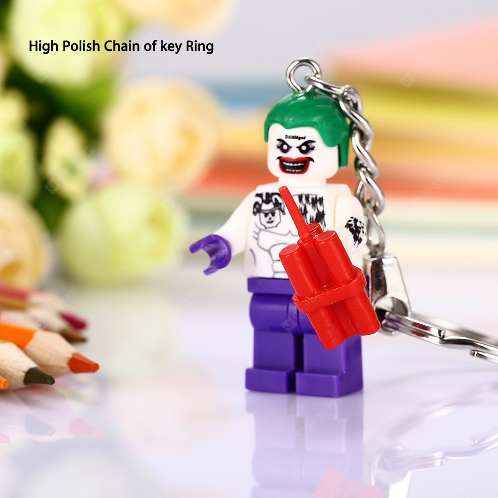 Keyring Pendant Decoration Clown Shape Key Chain
