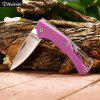 Harnds Lark CK1101PP Mini Foldable Knife with No Lock - PINK