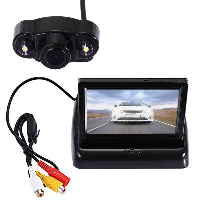 Car Rear View Camera Foldable Display 2 in 1 Set