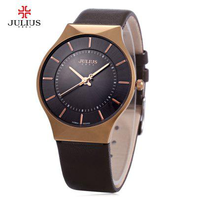 Julius JA - 577 Business Men Quartz Watch Round Dial Leather Watchband