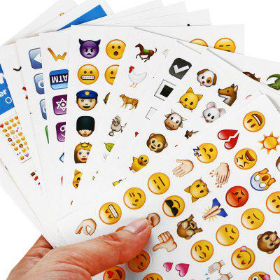 Portable Mini Sticker with Character Pattern 19pcs / set