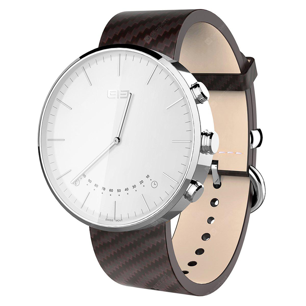 Elephone W2 Smart Bluetooth Watch Classic Smartwatch - SILVER AND BROWN