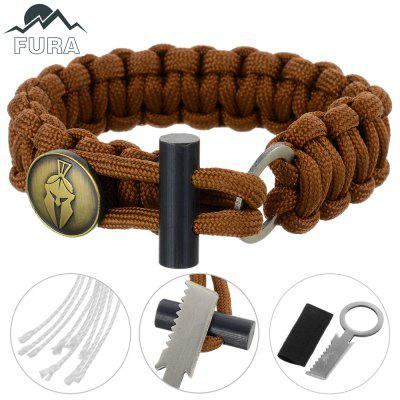 FURA 3 in 1 Survival Paracord Bracelet / Flintstone / Mini KnifeSurvival Bracelet<br>FURA 3 in 1 Survival Paracord Bracelet / Flintstone / Mini Knife<br><br>Bracelet Length: 27cm<br>Bracelet Width: 2cm<br>Color: Blue,Brown,Desert Camouflage,Orange<br>Extra Functions: Fire Starter<br>Material: Parachute Cord<br>Package Contents: 1 x FURA Bracelet<br>Package Dimension: 11.00 x 9.50 x 1.90 cm / 4.33 x 3.74 x 0.75 inches<br>Package weight: 0.0700 kg<br>Product Dimension: 27.00 x 2.00 x 0.80 cm / 10.63 x 0.79 x 0.31 inches<br>Product weight: 0.0300 kg